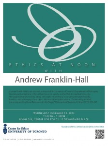 Ethics at Noon AFranklin Hall
