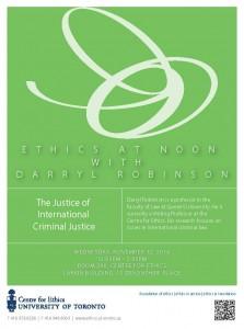 Ethics at Noon DRobinson