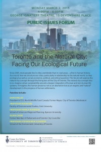 Natural City Public Issues Forum Poster