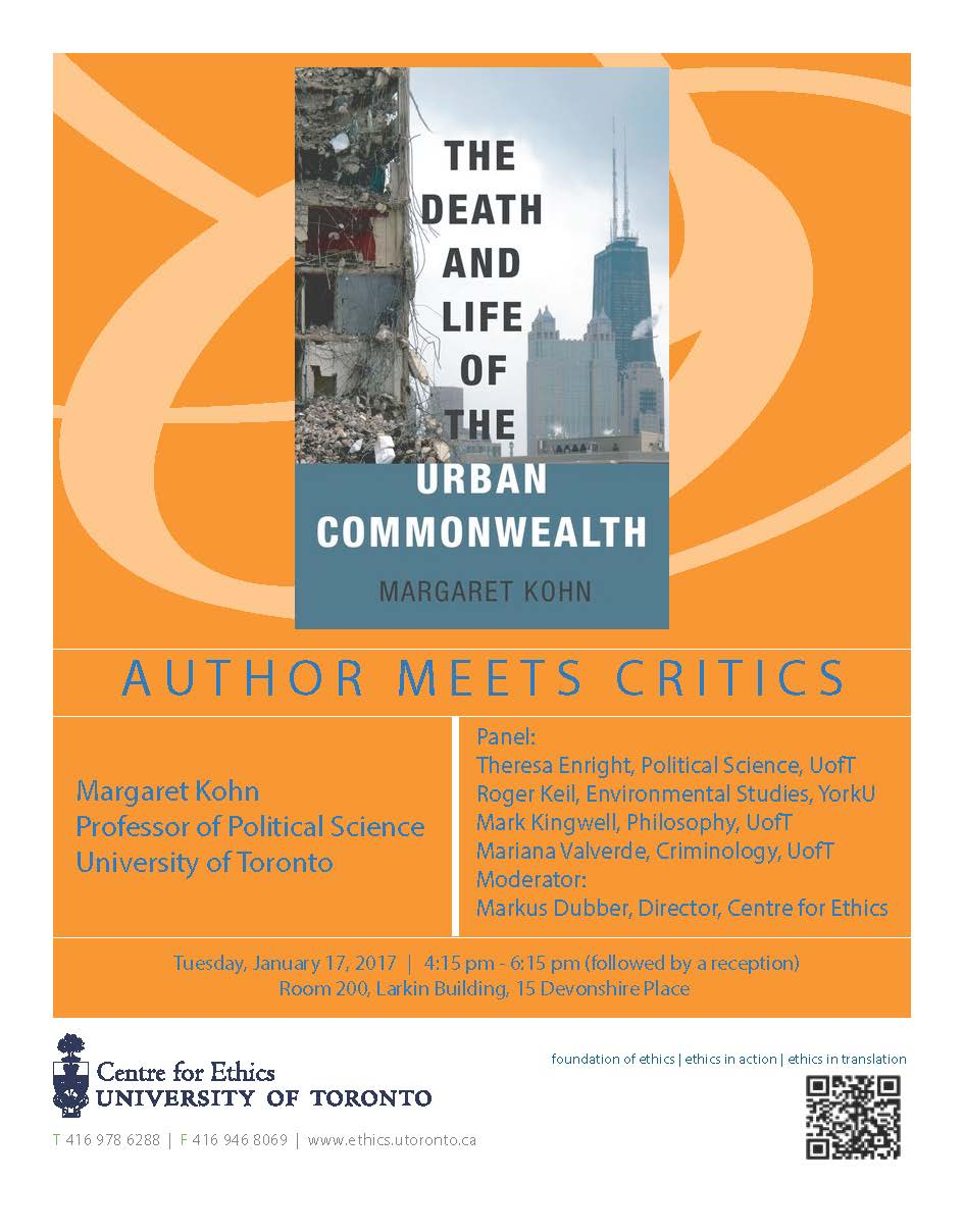 Peggy kohn wins two book awards for the death and life of the peggy kohn has won two awards for her recent book the death and life of the urban commonwealth oxford 2016 the american political science associations ccuart Images